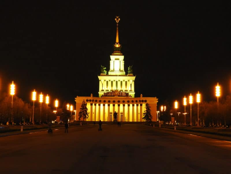 VDNKh at night