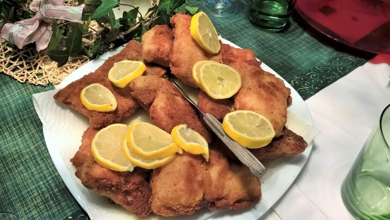 Fried fresh carp is a traditional Christmas meal in Czech Republic and Slovakia