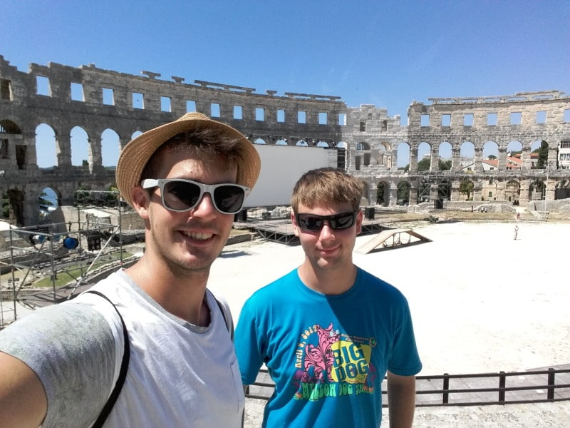 Visiting Colosseum in Pula