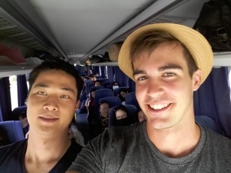 Catching a ride with tourists from Vietnam was one of the biggest culture shocks on the trip