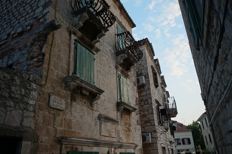 Omis streets in the old town