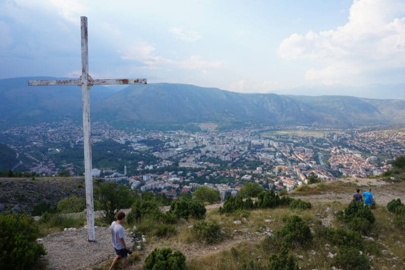 The view over Mostar - don't go up the hill off the path (there are still active landmines)