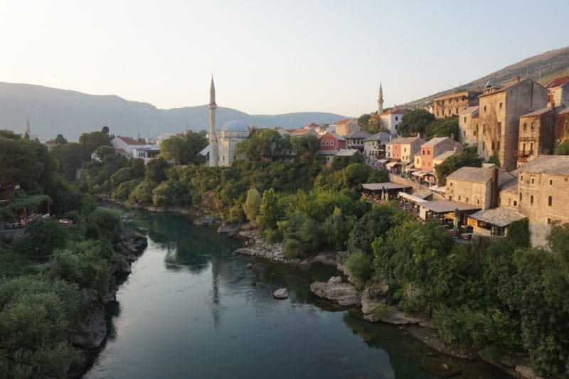 Mostar from the old bridge