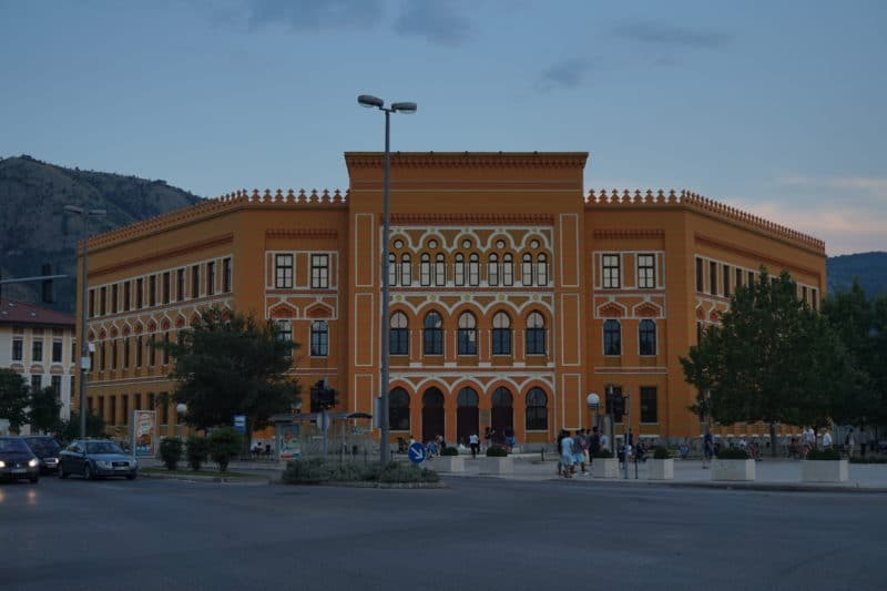 Mostar Gymnasium- with two different school systems taught in the morning and in the afternoon