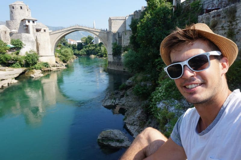 Sending greetings from Mostar with its iconic old bridge