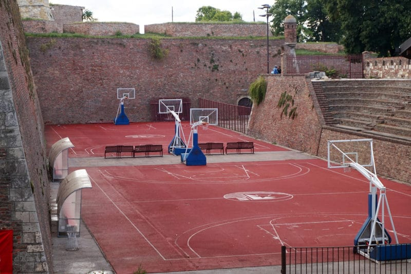 First Basketball court in Serbia