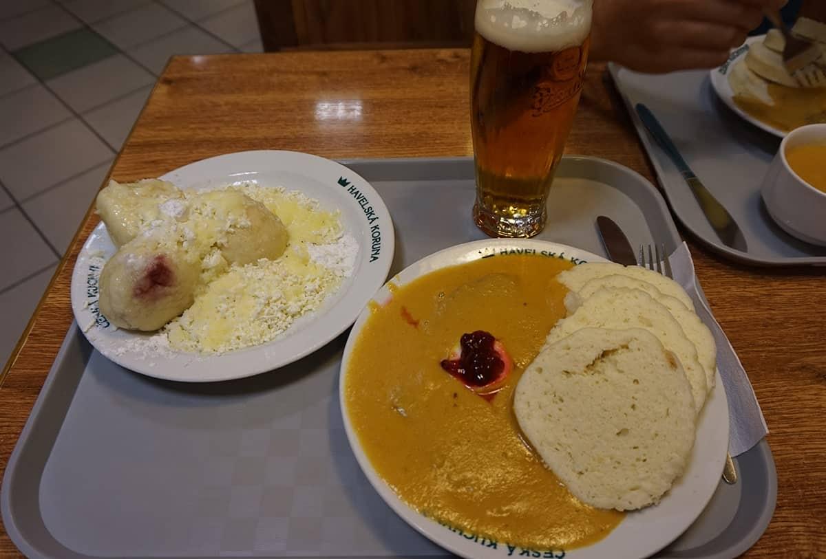 czech-food-svickova-and-fruit-dumplings-in-prague