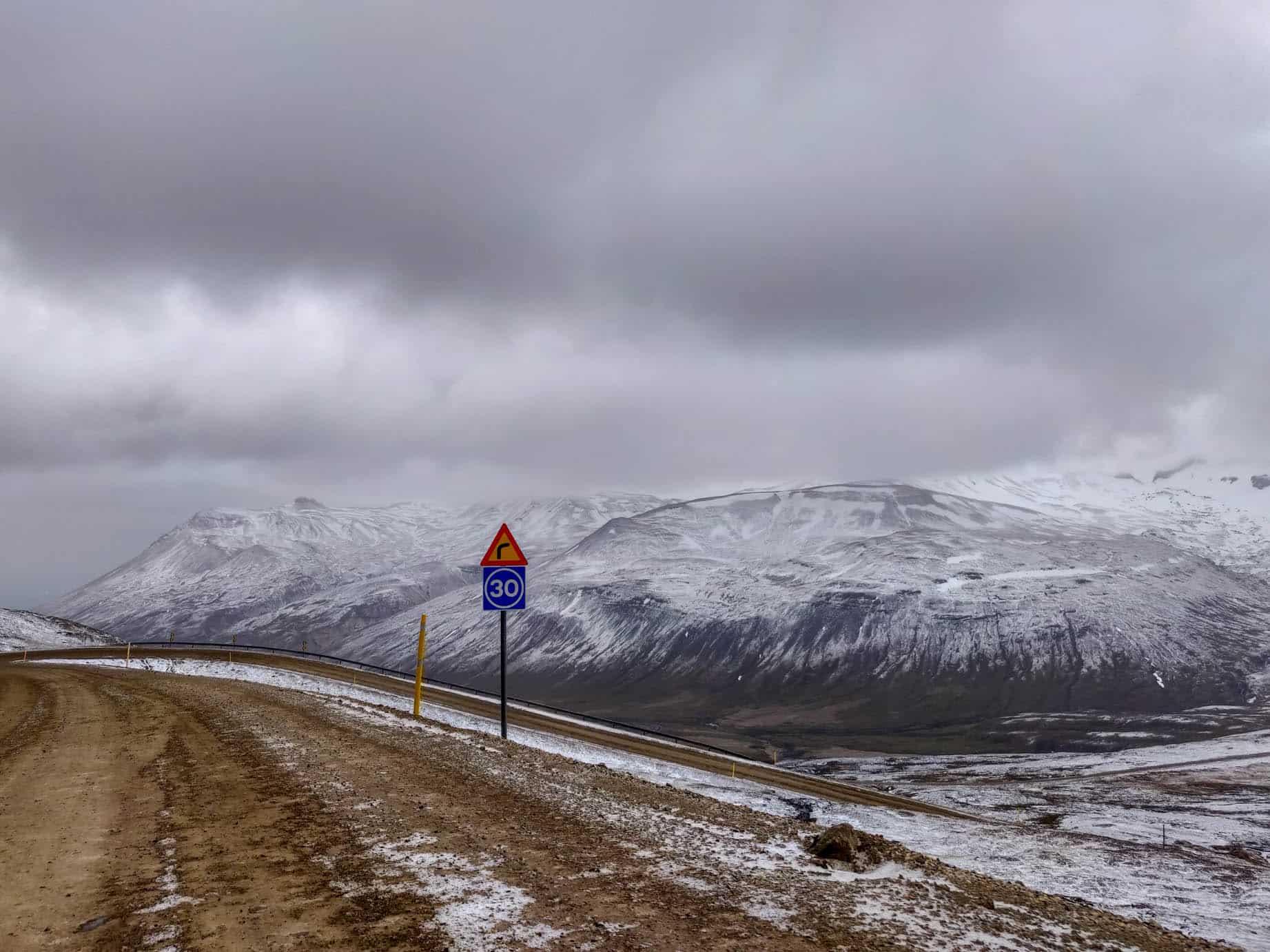 Roads in Iceland are unpredictable