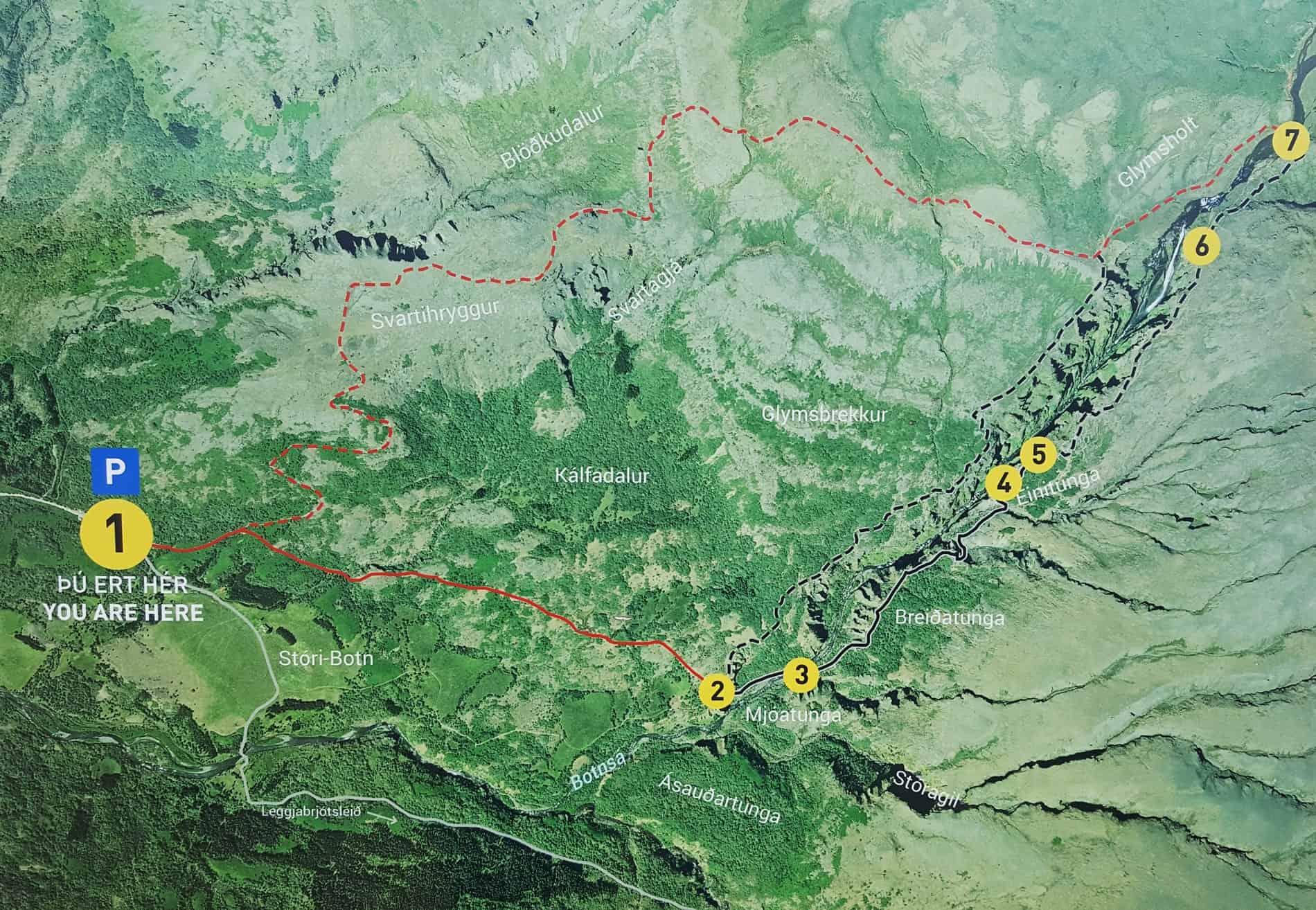 glymur-hike-trail-map